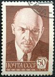 USSR - CIRCA 1976: shows Vladimir Ilyich Lenin Royalty Free Stock Image