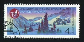 USSR - CIRCA 1987: En stolpestämpel som skrivs ut i USSR-showbild av M Royaltyfria Bilder