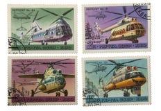 USSR-CIRCA 1980: Poczta znaczek drukujący w USSR przedstawienia helikopterach M Zdjęcie Stock