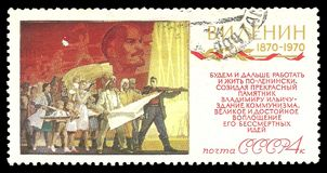 Lenin Revolutionary Activity. USSR - circa 1970: Stamp printed by USSR, Color edition on Centenary of Lenin, shows Revolutionary Activity, circa 1970 Stock Images