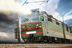 USSR electrical green train with star Royalty Free Stock Photos
