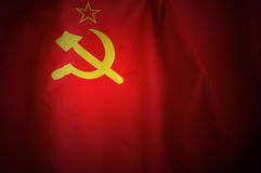 USSR Flag. Symbol of USSR - hammer and sickle Royalty Free Stock Images