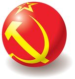 USSR flag texture on ball. Stock Image