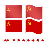 USSR Flags Royalty Free Stock Photo