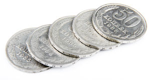 The USSR nickel coins Stock Image