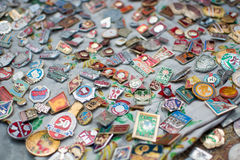 USSR odznaki Zdjęcia Royalty Free