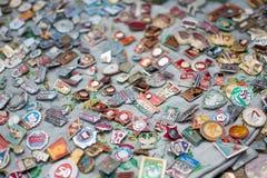 USSR odznaki Fotografia Royalty Free