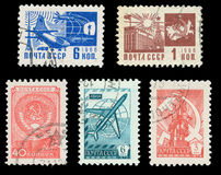 USSR post stamps Stock Photography