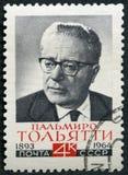 USSR - 1964: przedstawienia Palmiro Togliatti 1893-1964, W?oski polityk obraz stock