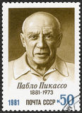 USSR - 1981: shows Birth Centenary of Pablo Picasso (1881-1973). USSR - CIRCA 1981: A stamp printed in USSR shows Birth Centenary of Pablo Picasso (1881-1973) stock image