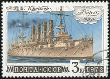 USSR - 1972: shows Cruiser Varyag, series History of Russian Fleet Stock Photo