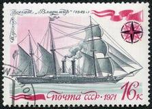 USSR -  1971: shows Frigate Vladimir Royalty Free Stock Image
