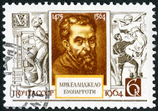 USSR - 1964: shows Michelangelo (1475-1564), 400th death anniversary Stock Images