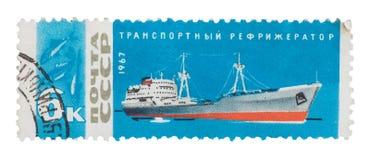 USSR 1967: stämpla, försegla, berömd rysk transport för shower Arkivfoto