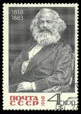 Karl Marx. USSR - stamp printed in1968, Famous people, Revolutionaries, 150th Birth Anniversary of Karl Marx Stock Images