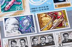 The USSR stamps on the subject of space Royalty Free Stock Photo