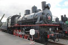 USSR steam loco. Railroad museum in Sainr-Peterburg Russia, steam loco Royalty Free Stock Image