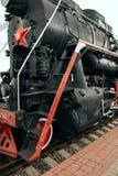 USSR steam train Stock Image