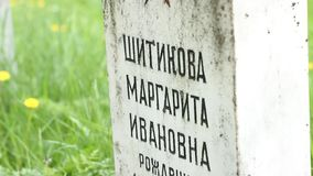 USSR WWII Officer Grave stock video footage
