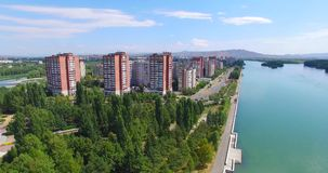 Ust-Kamenogorsk city.  East Kazakhstan. stock footage