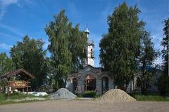 UST-SALDA, SVERDLOVSK REGION, RUSSIA - JUNE 17, 2015: Photo of Peter and Paul Church. Stock Images