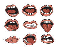 usta Obrazy Stock