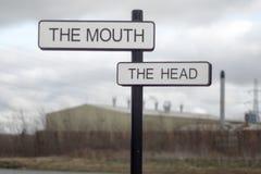 Usta i głowa Zdjęcia Stock