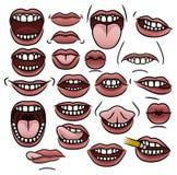 Usta kolekcja Obrazy Royalty Free