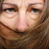 usta nakrywkowa włosiana kobieta obraz stock