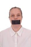 usta odnotowana kobieta Obraz Stock