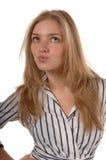 usta pursed kobiety Zdjęcia Stock
