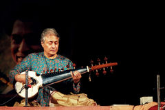 Ustaad Amjad Ali Khans Konzert bei Konark lizenzfreie stockfotos