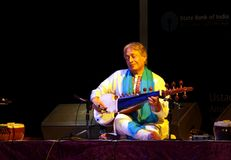 Ustad Amjad Ali Khan performs at Bahrain, Nov 2012 Royalty Free Stock Photography