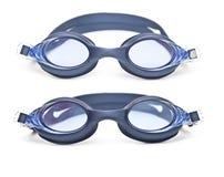 Ustaleni błękitni pływanie gogle Zdjęcie Stock