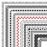 Ustaleni bezszwowi muśnięcia z narożnikowymi elementami tworzyć ramy royalty ilustracja