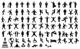 Ustaleni ludzie piktogramów royalty ilustracja