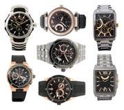 ustaleni mężczyzna zegarki s Obrazy Royalty Free