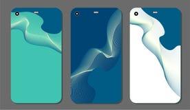 Ustaleni modni abstrakcjonistyczni ornamenty dla telefonu komórkowego zakrywają i ekranizują Widoczna część ścinek maska Próbka ilustracja wektor