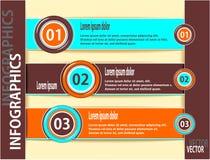 Ustaleni nowożytni sztandary lub szablon infographics Zdjęcie Stock