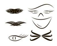Ustaleni plemienni tatuaże ilustracja bez przezroczystości Fotografia Stock