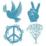 ustaleni pokojów symbole Fotografia Royalty Free