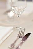 ustaleni posiłków stoły zdjęcie royalty free