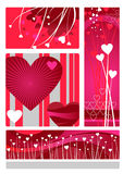 ustaleni projektów valentines Obraz Stock