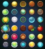 Ustaleni różni guziki dla strony internetowej lub app royalty ilustracja