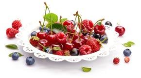 Ustalona świeża jagoda Mieszanki summery owocowa malinka obrazy stock