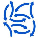 Ustalona błękitna strzała Fotografia Stock