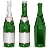 Ustalona butelka szampan Obrazy Royalty Free