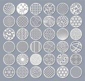 Ustalona dekoracyjna okrąg karta dla ciąć Round Abstrakcjonistyczny geometryczny liniowy wzór Laseru cięcie również zwrócić corel ilustracja wektor
