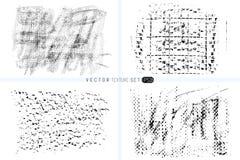 ustalona grunge tekstura Ręki rysujący tła Wektorowi szablony Punkt tekstury Wosk kredki punkty Monochrom artystyczny Zdjęcia Stock