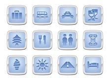 ustalona ikony podróż Obrazy Royalty Free